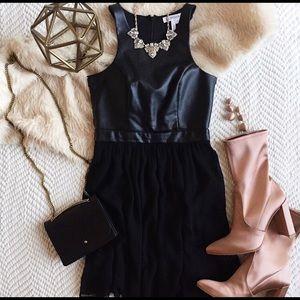 BCBG generation faux leather dress